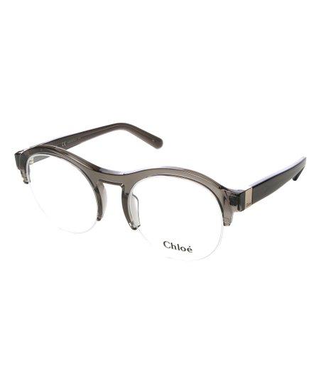 Smoke Half Rim Eyeglasses by Chloé