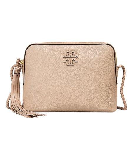 2e9a26197 Tory Burch Devon Sand Taylor Leather Crossbody Bag