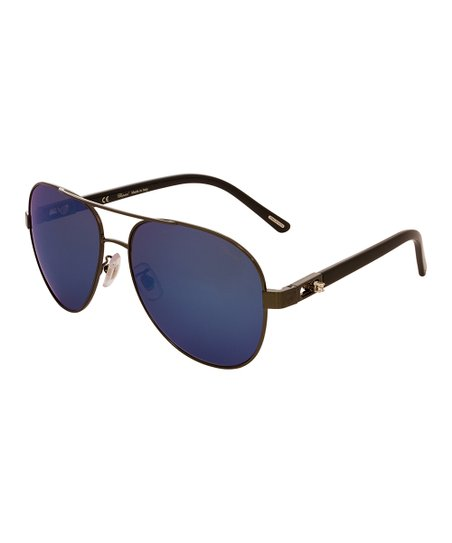 05c3dd5ce8ea2 love this product Ruthenium   Blue Modified Aviator Sunglasses - Female