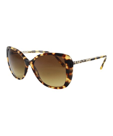 b9182fd90ff5 Burberry Light Havana Tortoise Shell Cat Eye Sunglasses