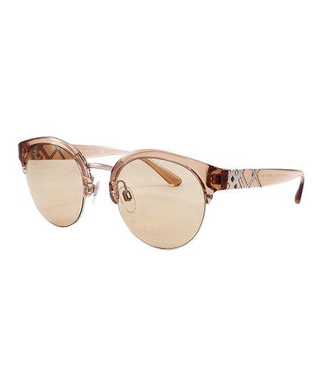 815b4cedba Burberry Brown Round Browline Sunglasses