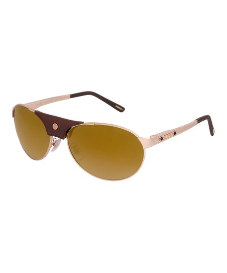 5066bbf266 love this product Rose Gold   Yellow Mirror Modified Aviator Sunglasses -  Female