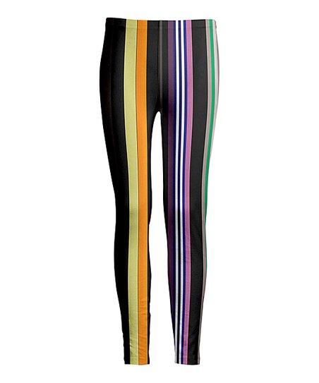 6ddcebdbea88d love this product Black & Yellow Stripe Leggings - Women & Plus
