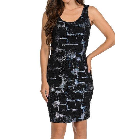 love this product Black   Silver Jarquard Bodycon Dress - Women   Plus a7f6cc5199