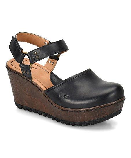 Boc Black Rina Wedge Leather Mule Women Zulily
