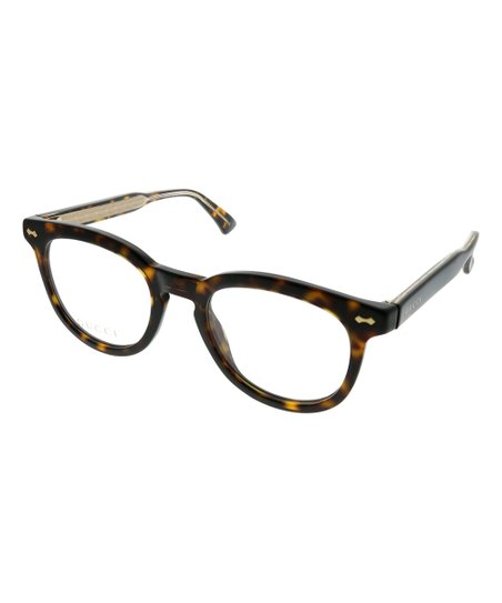 0c7b1393d39 Gucci Brown Tortoise Round Eyeglasses