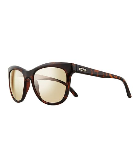 e8a6d78de8 Revo Tortoise Leigh Polarized Square Sunglasses