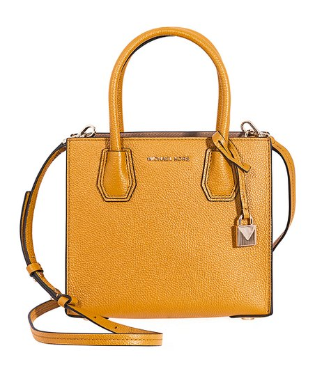 fd16a16a4763 Michael Kors Marigold Mercer Medium Leather Crossbody Bag | Zulily
