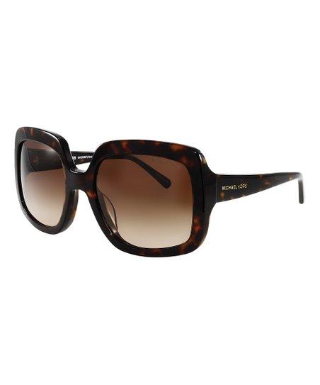 29817c5646b47 Michael Kors Brown Tortoiseshell Oversize Sunglasses