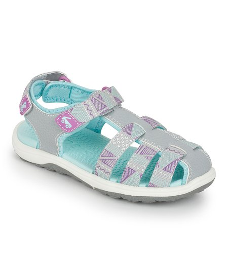 See Kai Run Gray Paley Webbing Closed-Toe Sandal - Girls  b0f725bb8