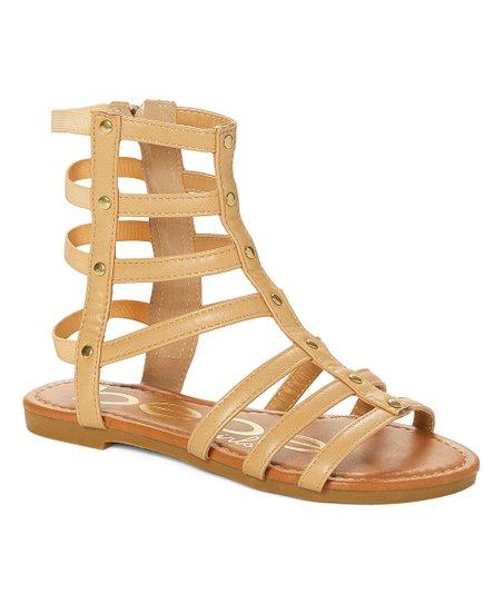 bebe girls Tan Gladiator Sandal - Girls