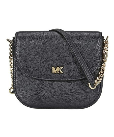 3c4a6fdf7203 Back to Michael Kors: Handbags Back. Ends in 2 days 8 hours. Black Leather  Flap Crossbody Bag