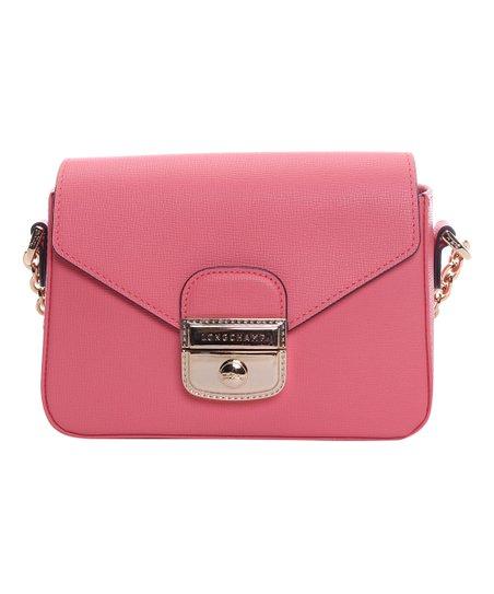 eca2a69b4ea6 love this product Pink Push-Lock Leather Crossbody Bag