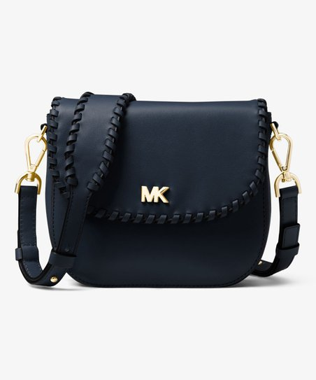 9bb98b2debbe Michael Kors Black Whipstitched Leather Crossbody Bag | Zulily
