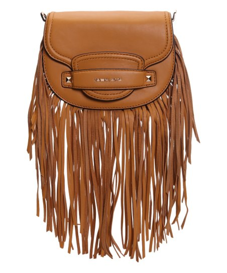 8ce45984914a Michael Kors Marigold Leather Cary Fringe Crossbody Bag | Zulily