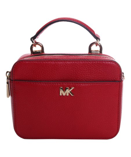 a85416634329 Michael Kors Bright Red Leather Mini Crossbody Bag