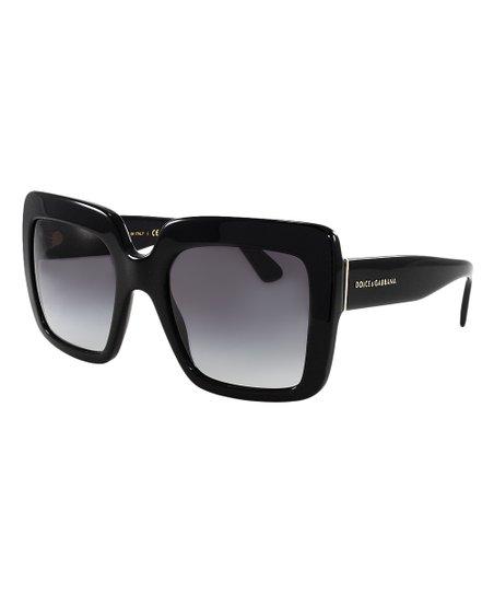 ee626faea170 Dolce   Gabbana Gray   Black Gradient Square Sunglasses