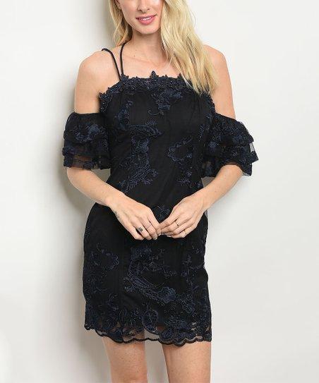 3e4aae22c0227 The Balec Group Black Lace Off-Shoulder Dress - Women