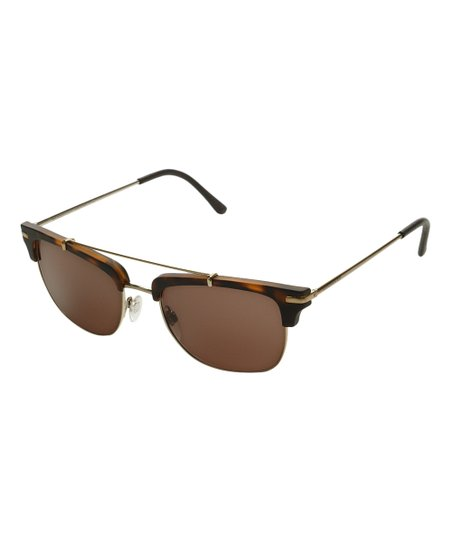 ecb05d1f46 love this product Brown Havana   Goldtone Double-Bridge Cat-Eye Sunglasses