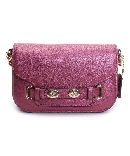 multiple colors well known enjoy bottom price Coach Blush Metallic Leather Blake Crossbody Bag
