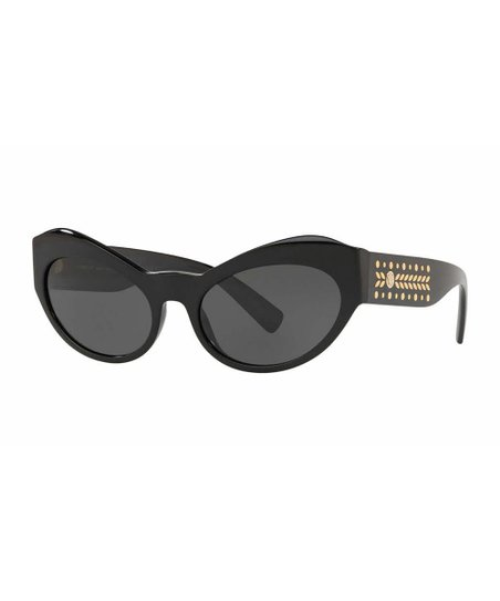 7b0256e975c982 love this product Black & Gold-Accent Cat-Eye Sunglasses