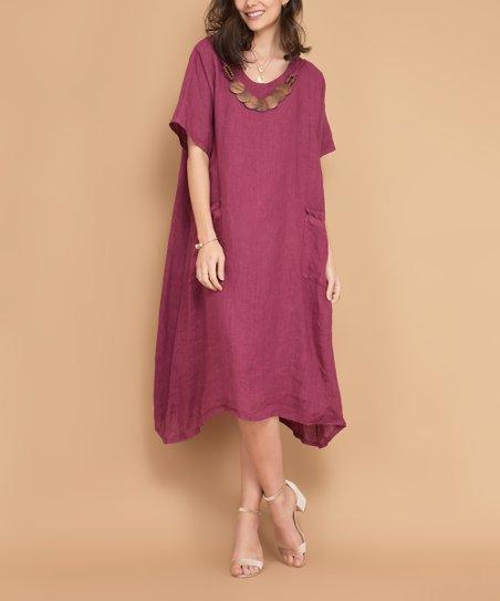 fb305443cb8 love this product Purple Buffalo Linen Dress - Women