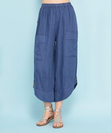 af1afe0a1a5 100% LIN BLANC Blue Alabama Linen Pants - Women   Plus