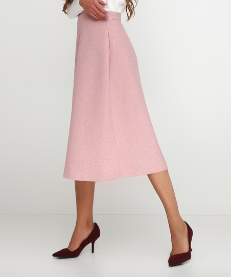 c3c63b873729 love this product Pink Solid Front-Slit Midi Skirt - Women