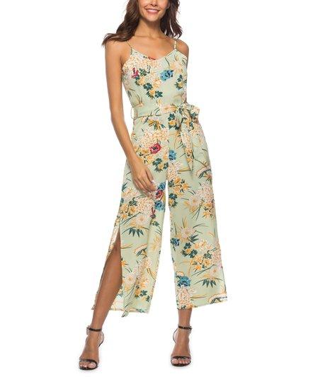 d4a1b8f77b5 Luna Tuccini Green Floral Jumpsuit - Women