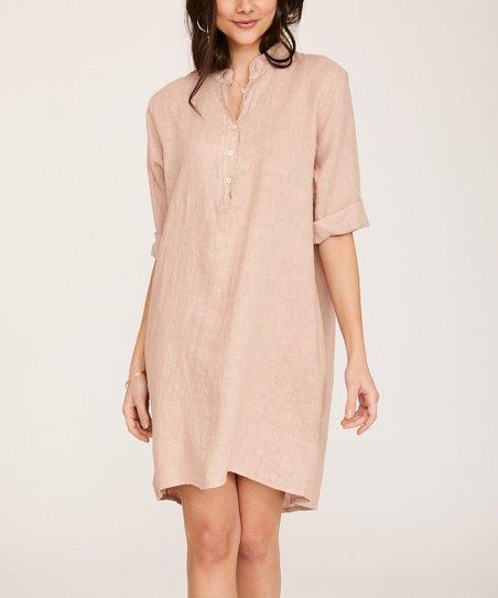 51bffb59ee4 love this product Pink Oversize Linen Shirt Dress - Women   Plus