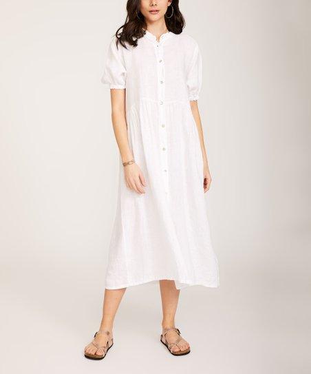 470a50bec17 love this product White Linen Shirt Dress - Women   Plus