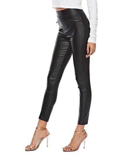 0516e02a8b2 LAKLOOK Black Faux Leather Skinny Pants - Women | Zulily