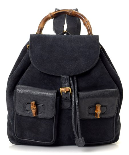 36848c62bc6 love this product Pre-Owned Black Bamboo Suede Backpack