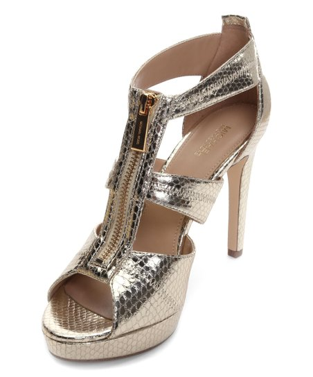18e8e6798 love this product Pale Gold Snake-Embossed Damita Leather Sandal