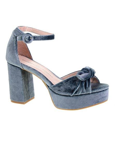 95aa9423802 love this product Steel Blue Tina Velvet Platform Sandal - Women
