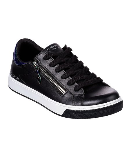 bf6a102c love this product Black Zip Siders Prima Leather Sneaker - Women