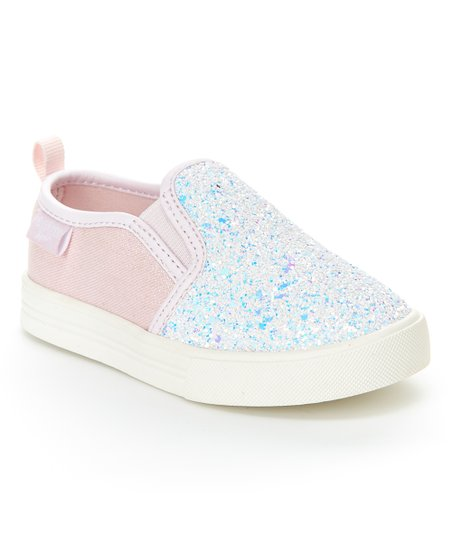 d9d97ae58a07 love this product Light Pink, Blue & Silver Iridescent Glitter Maeve Slip-On  Sneaker - Girls