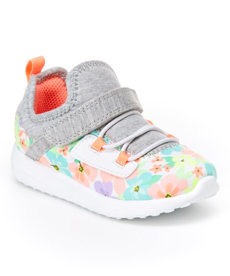 a2d749754 Carters Pink   Blue Floral Boom Running Shoe - Girls
