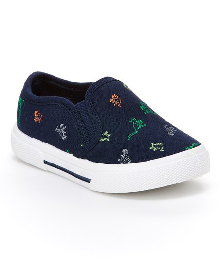 e10dbc75568 love this product Navy Dinosaur Slip-On Sneaker - Boys
