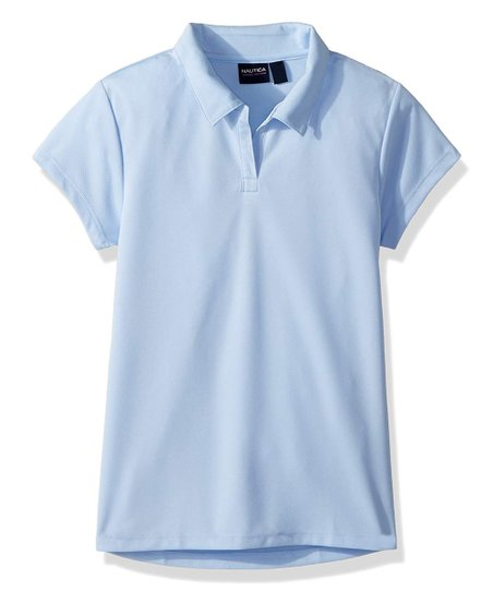 Nautica Girls School Uniform Performance Polo