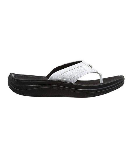 57ca3c905ca New Balance Black   White Revive Thong Sandal - Women