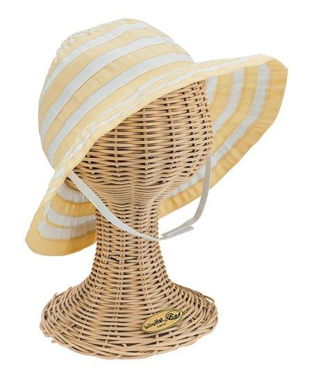 a35c4cb66a6e6 San Diego Hat Company Yellow Stripe Chin-Strap Bucket Hat