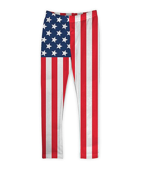 80dd580848cfd love this product Red & Blue Patriotic Flag Leggings - Toddler & Girls