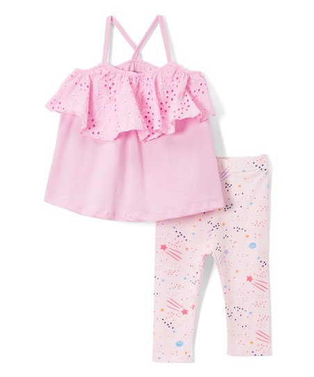 ec9d15de68f9f E-play Brands Light Pink Shooting Star Camisole & Leggings - Infant ...