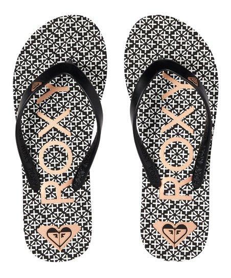4fa7e3ccab0a love this product Black   White Print Tahiti Flip-Flop - Women