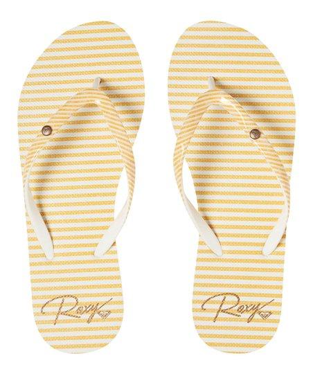 67206f062341 love this product Yellow Tone Stripe Portofino Flip-Flop - Women