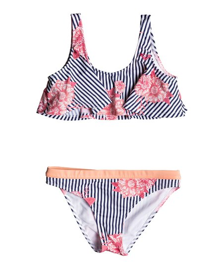 3991765d671 love this product Medieval Blue Stripe Young & Free Flutter Bikini Set -  Girls