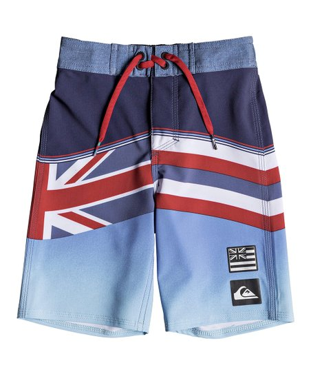 37d225fcb8 Quiksilver Medieval Blue Highline Hawaii Serious 14'' Boardshorts - Toddler  & Boys