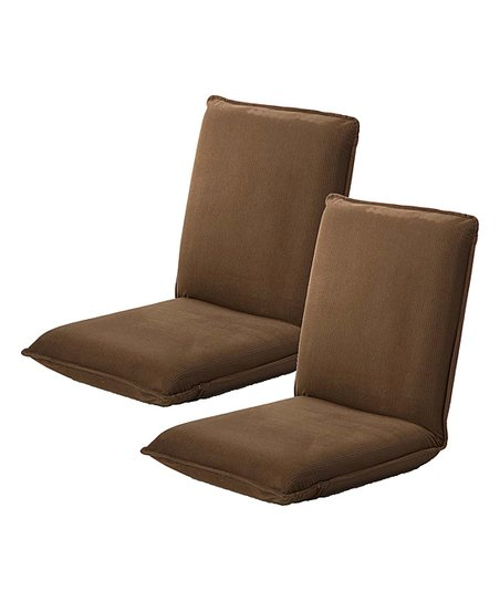 Plow U0026 Hearth Brown Convertible Angle Chair   Set Of Two