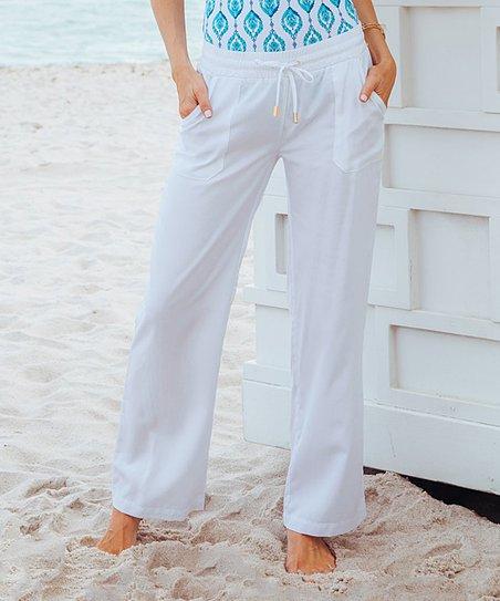 be381fab26 Cabana Life Bright White Beach Pants - Women | Zulily